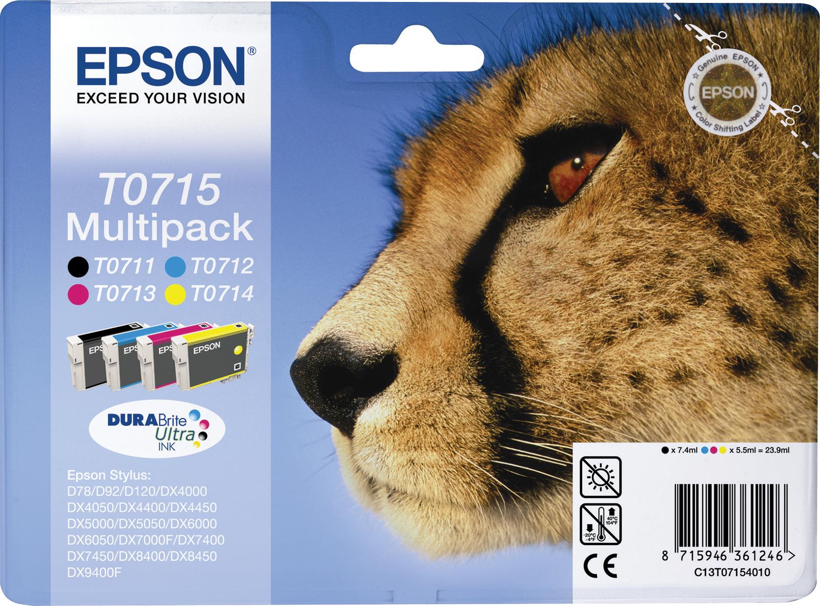 Cartuccia Epson T0715 Multipack Nero, Ciano, Giallo e ...