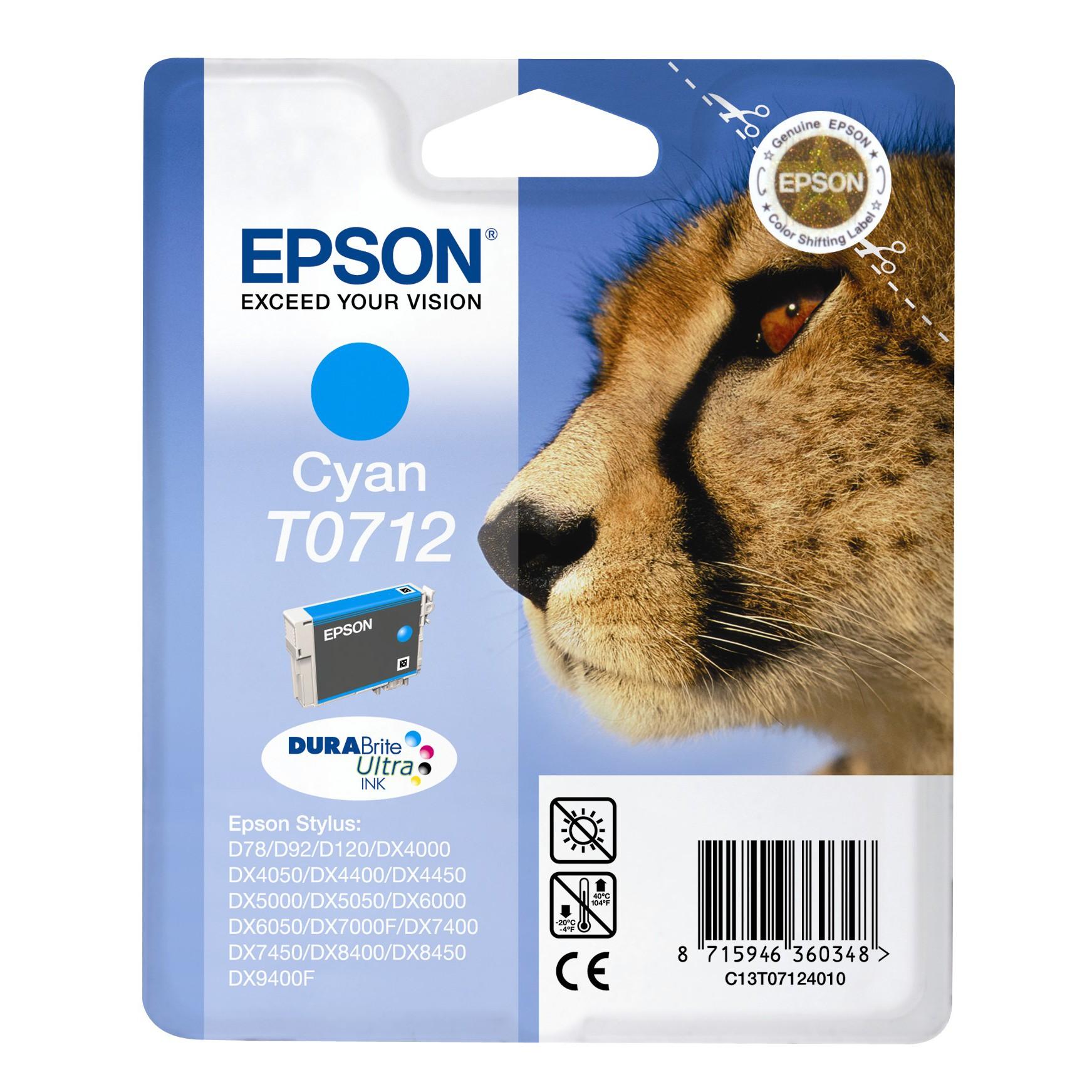 Epson t0712 cartuccia ciano originale